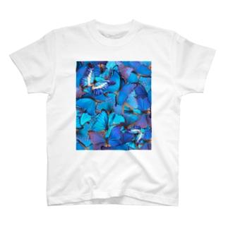エレメントマスター かみじ まなやのモルフォ縦 T-shirts