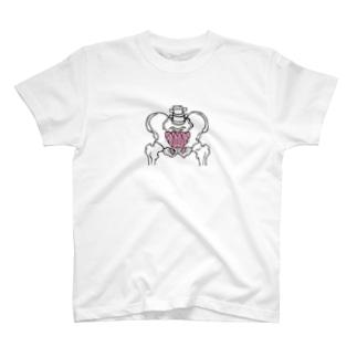 骨盤 骨 骨盤底筋群 内臓 NO.22 T-shirts