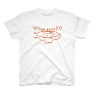花粉症、Hay Fever、マスク T-shirts