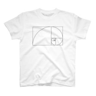 カマラオンテのフィボナッチ T-shirts