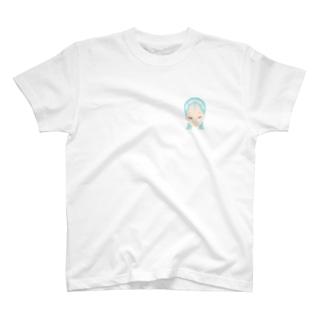 雲メイク sky blue T-shirts