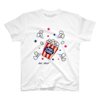 RIPPYの飛び出すポップコーン T-shirts