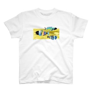 ブクブク 魚 背景アリ T-shirts