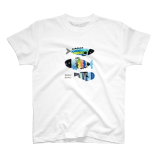 ブクブク 魚 タテバージョン T-shirts