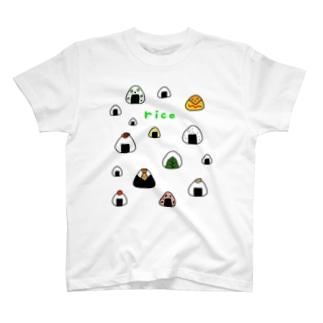 カラフルおにぎり T-shirts