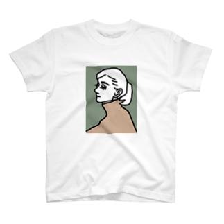 女の人 横顔 T-shirts