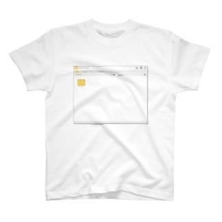 架空のOSのウインドウ・フォルダー画面 T-shirts