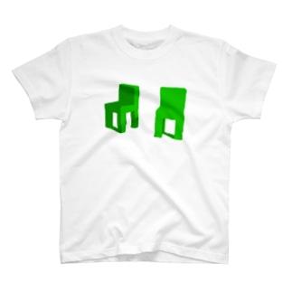 グリーンチェア T-shirts