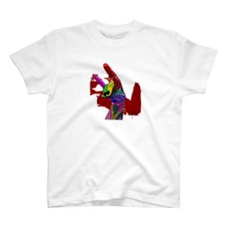 手のキツネ T-shirts