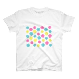 カラフルポップ水引梅結び T-shirts