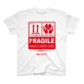 FRAGILE Tシャツ <ジョークTシャツ> T-shirts