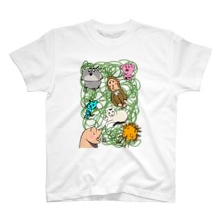 もやもやアニマルズ T-shirts