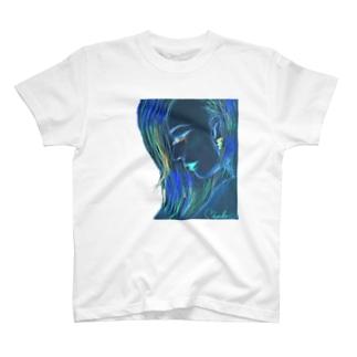 WataMayuroom☆の涙の横顔(青バージョン) T-shirts