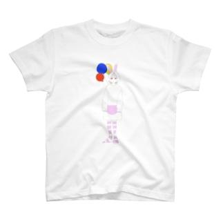 よみのくにからのbunny girl T-shirts