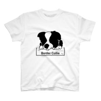 ボーダーコリー犬イラスト(愛犬シリーズ) T-shirts