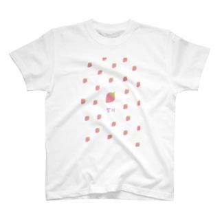 odayakakaedeの韓国 ハングル いちご T-shirts
