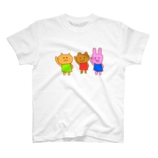 おへんじねこくまうさぎ T-shirts