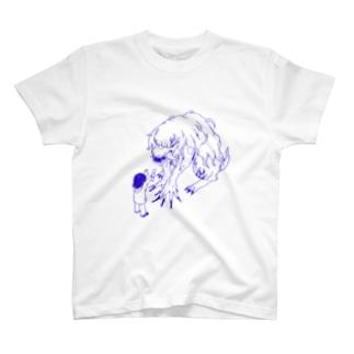 ブリーダーとわんこ アオ T-shirts
