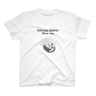 MECCHA NEMUI ねこ T-shirts