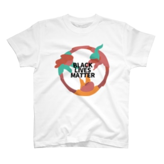 RIRI_designのBLACK LIVES MATTER(ブラック・ライブス・マター)サークル2 T-shirts