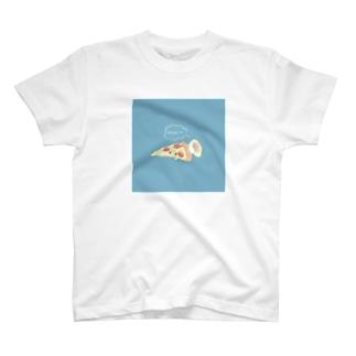 ピザでねんねのカワウソ T-shirts