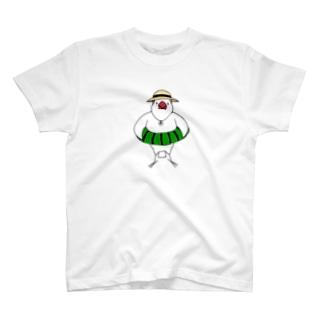 浮き輪文鳥 T-shirts