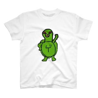 カメのムネムネ T-shirts