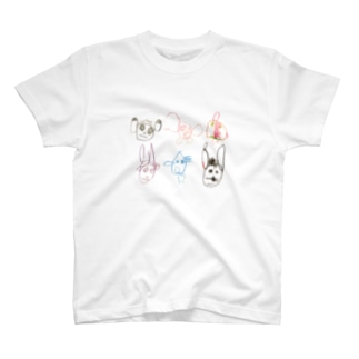 uzulamame.の森のどうぶつたち T-shirts