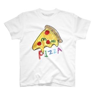 ピザ カラフル おいしく食べればゼロカロリー T-shirts