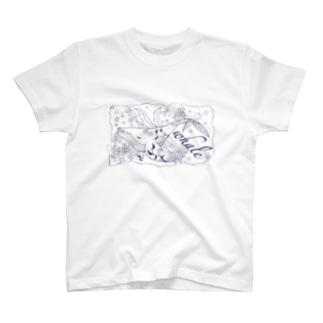 ねむり鯨(線画) T-shirts