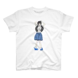 ブルーな女の子 T-shirts