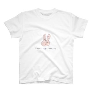 アドバンス魚類の寿司を食いたいうさぎくんTシャツ T-shirts
