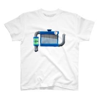 水冷人間 ラジエーター tしゃつ T-shirts