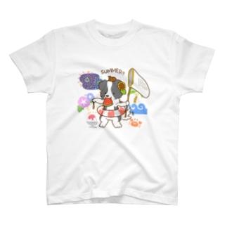 ボーダーコリーのライラ 夏満喫 T-shirts