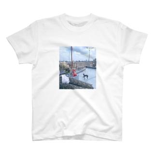 屋上って実は海で T-shirts