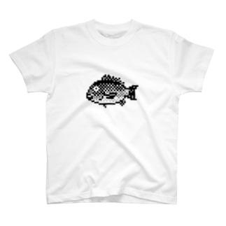 ドット絵のクロダイ T-shirts
