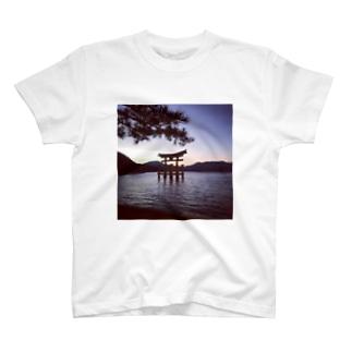 Miyajima's sunset T-shirts