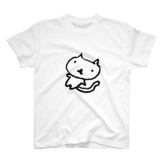 ねこにゃん(ゆるゆる) T-shirts