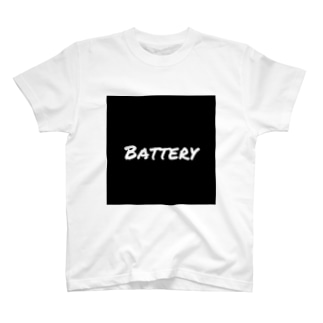 battery_officialのBattery sticker T-shirts