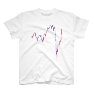株 日経225 コロナ直撃のV字反発 株価V字回復チャート T-shirts