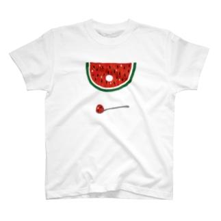 すいかトンネル T-shirts