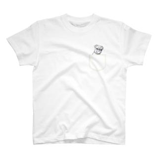 ひょっこりパグさん(きいろ)/チャリティー T-shirts