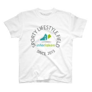 interlaken エンブレムTシャツ T-shirts