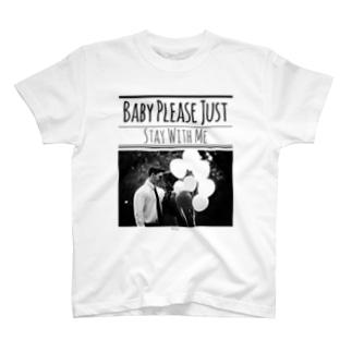 レトロなモノトーンコーデ 「Stay With Me」 T-shirts