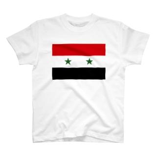 SYRIA シリアの国旗 旗 flag T-shirts