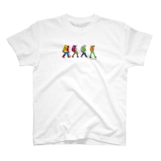ハイカーシリーズ 刺繍風Tシャツ T-shirts