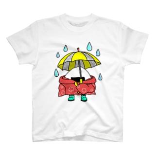 雨の日おにぎり T-shirts