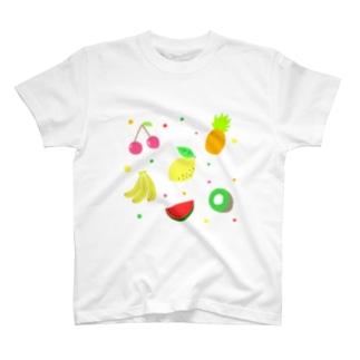 夏のフルーツ盛り合わせ T-shirts