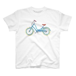 水色の自転車 T-shirts