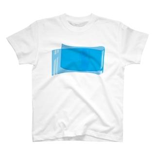 ビニール - シアン T-shirts